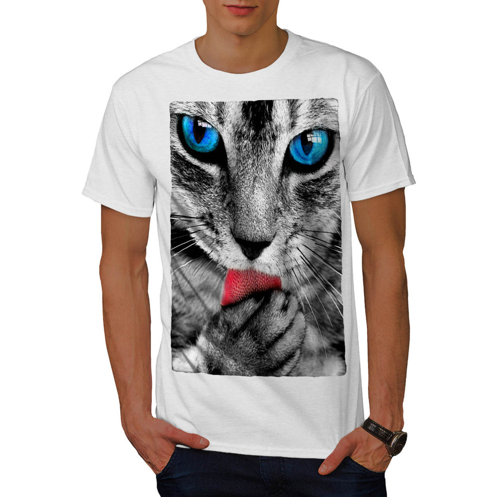 Cat Kitten Graphic Mens T-Shirt