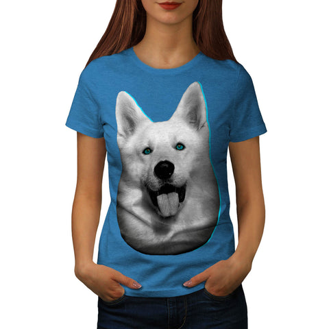 White Husky Dog Puppy Womens T-Shirt