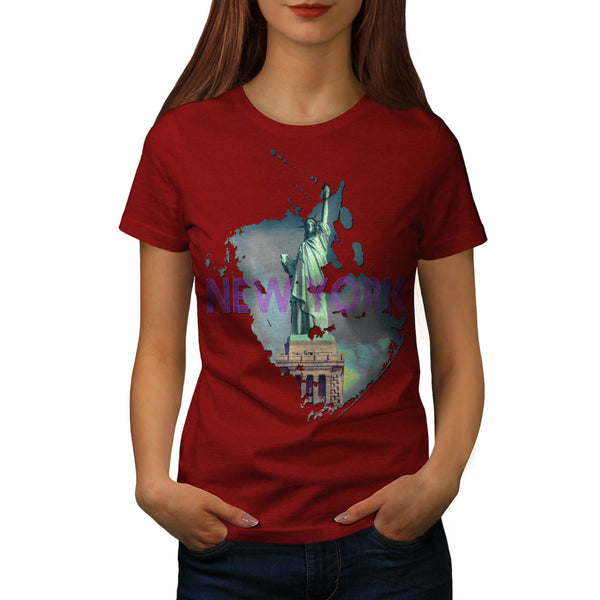 Statue Of Liberty Womens T-Shirt