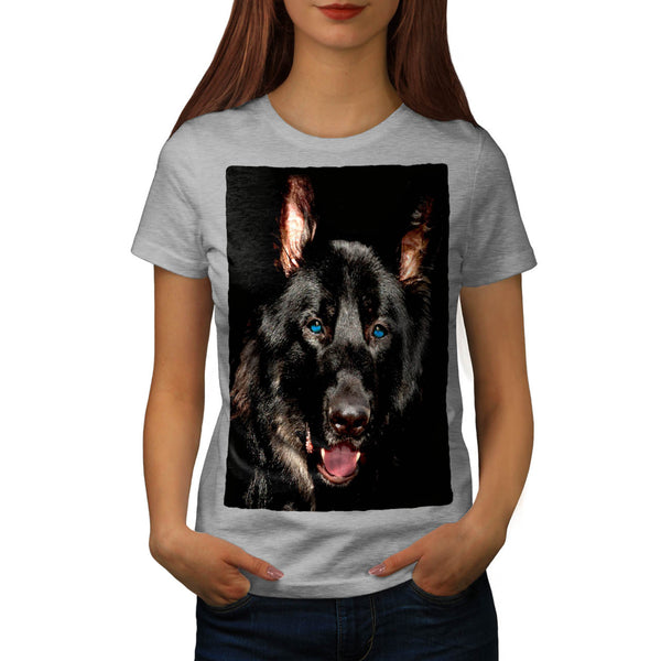 Black German Shepherd Womens T-Shirt