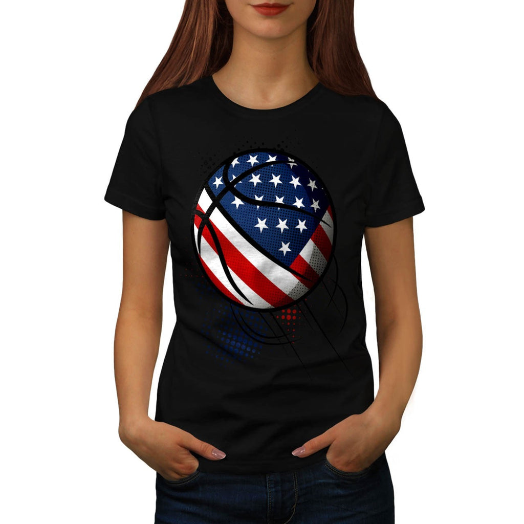 American Basketball Womens T-Shirt