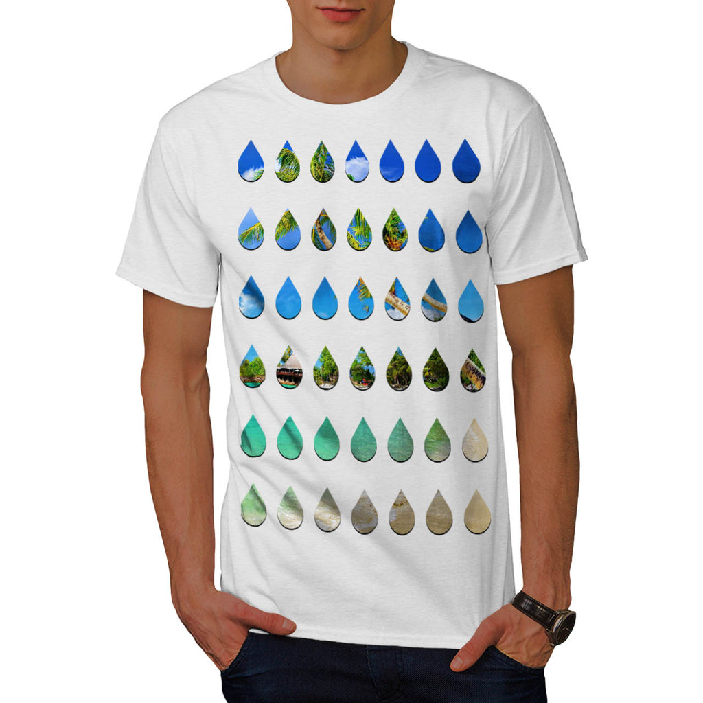 Holiday Rain Drops Mens T-Shirt