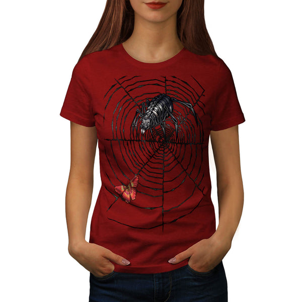 Monster Spider Web Womens T-Shirt