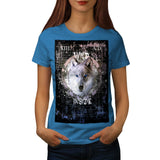 Wild Wolf Animal Face Womens T-Shirt