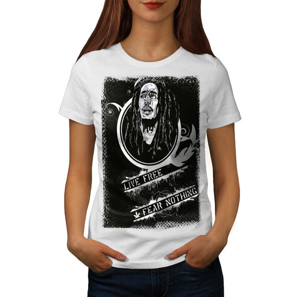 Live Free No Fear Womens T-Shirt