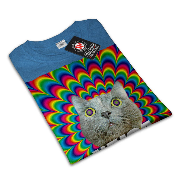 Whoa Psychedelic Cat Womens T-Shirt