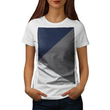 Grey Triangle Shape Womens T-Shirt