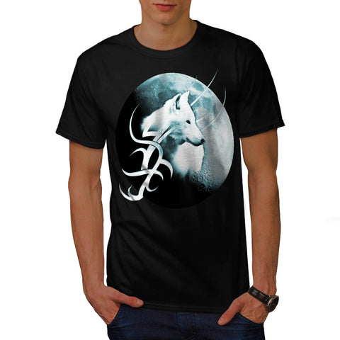 Tribal White Wolf Mens T-Shirt