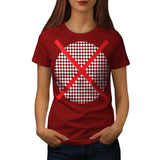 Red Cross Pattern Vote Womens T-Shirt