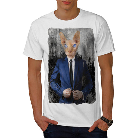 Siamese Cat Business Mens T-Shirt