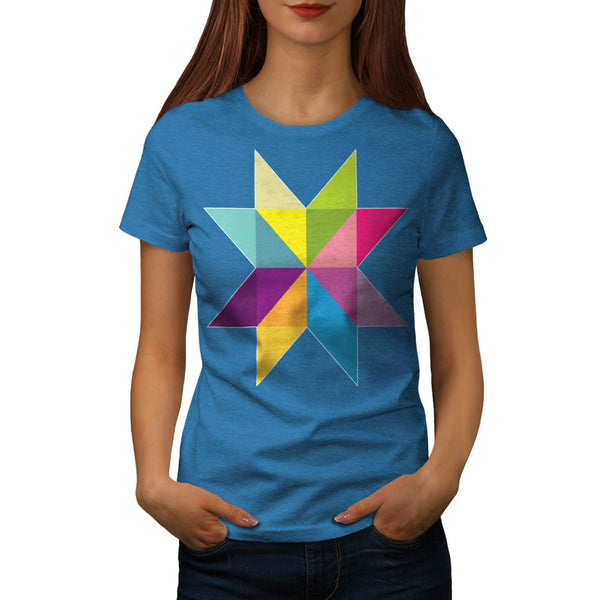 Triangle Star Shape Womens T-Shirt