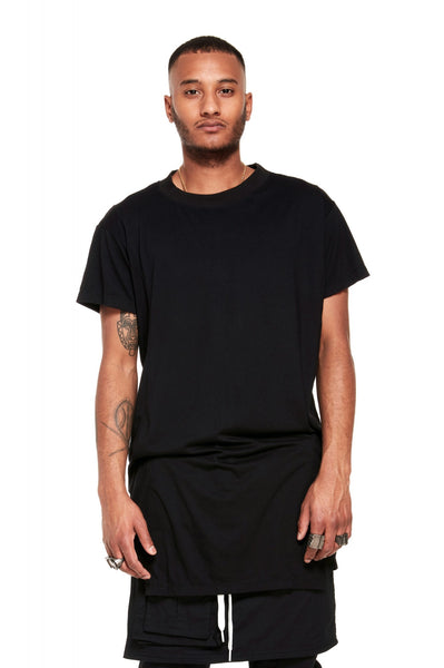 Ribbed Collar T Shirt