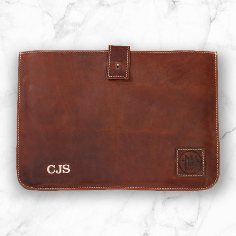The Stockholm Macbook Sleeve by MAHI Leather with Personalized Embroidery