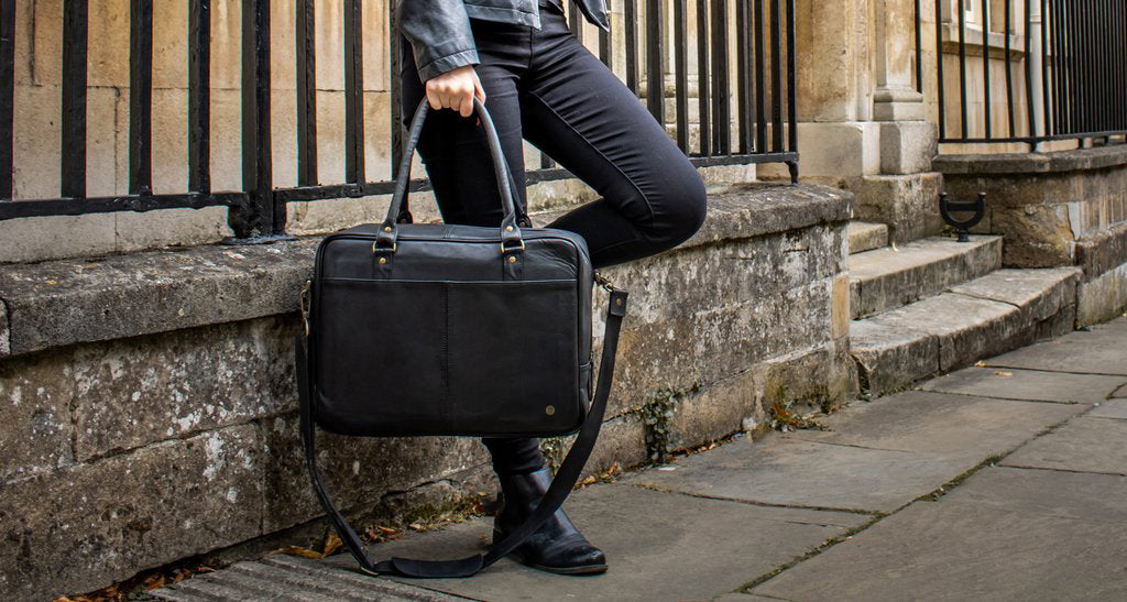 Oxford Zip Up Satchel