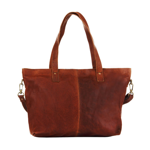 Classic Vintage Brown Tote Bag