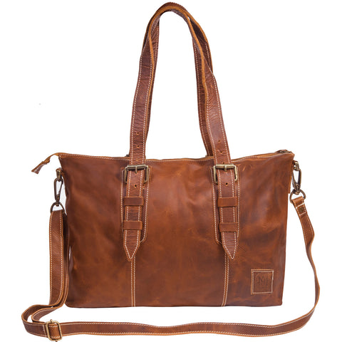 Vintage Brown Victoria Tote by MAHI