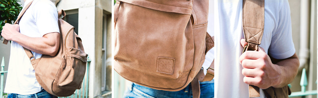 MAHI Leather Classic Backpack in Vintage Cognac