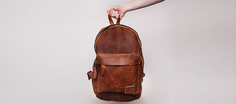 Classic Unisex Backpack in Vintage Brown by MAHI Leather