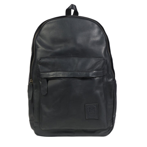 The Classic Backpack in Black Leather