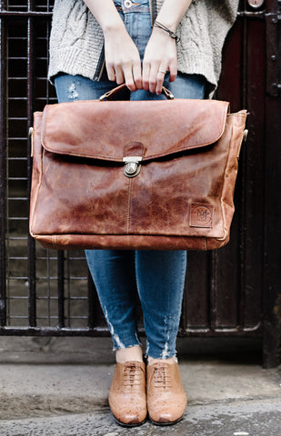 The Yale Clip-Up Satchel by MAHI Leather