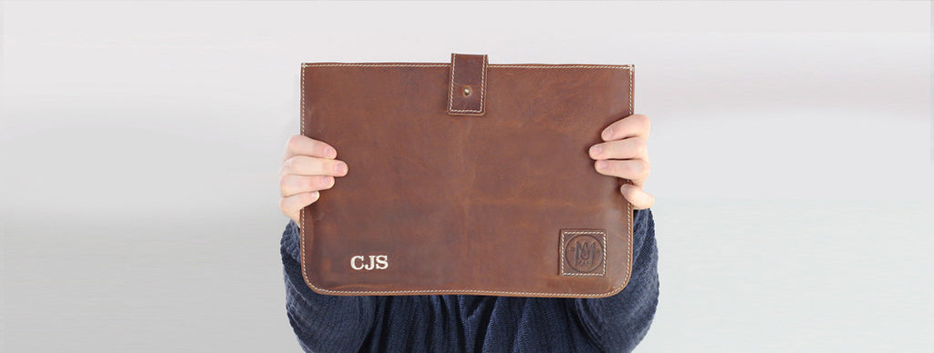 MAHI Leather Laptop Sleeve - Stockholm in Vintage Brown