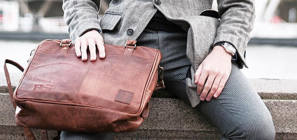 MAHI Leather Oxford Zip-Up Satchel in Vintage Brown | Photo by Stephen Rusu