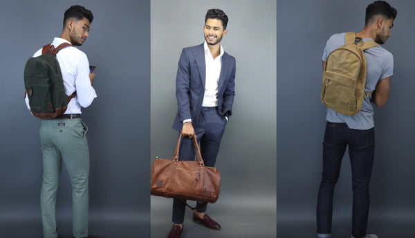 TMF featuring MAHI Leather Classic Duffle & Backpack