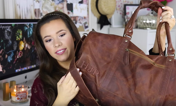 Hayley Paige featuring MAHI Leather Classic Duffle in Vintage Brown