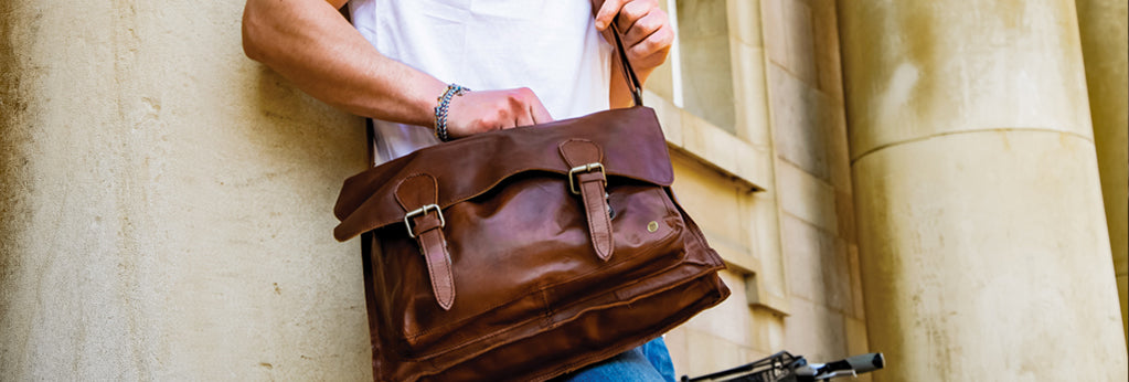 Classic Messenger in Vintage Brown by MAHI Leather