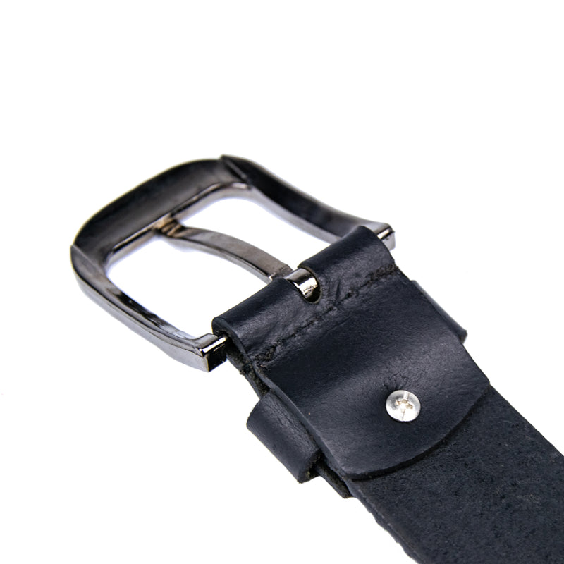 Rope Print Leather Belt