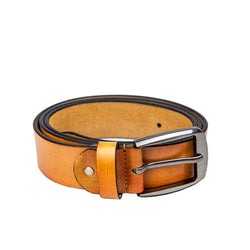 Light Tan Leather Men's Belt