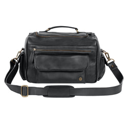 Black Leather Tool Bag for Hairdressers and Make-up artists