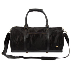 Black Pony Hair Duffle Bag | Cowhide Weekend Bag
