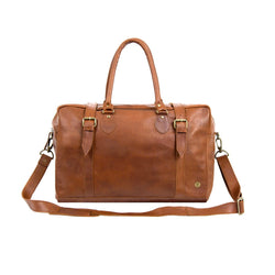 Brown Full Grain Leather Doctors Bag | Personalised Holdall
