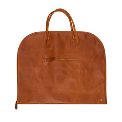 Brown Leather Suit Carrier | Full Grain Leather Garment Carrier