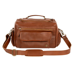Brown Leather Tool Bag for Hairdressers and Make-up artists