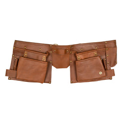 Brown Leather Tool belt for Crafters, Hobbyists & Mechanics