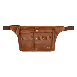 Brown Leather Tool belt for Hairdressers and Make-up artists