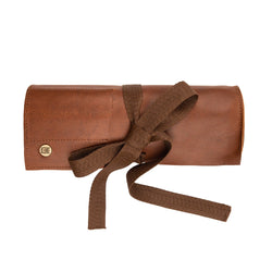 Brown Leather Tool Wrap for Crafters, Hobbyists & Mechanics