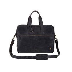 Classic Black Crocodile Print Leather Holdall | Personalised