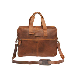 Classic Brown Leather Holdall | Personalised