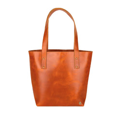 Classic Tan Tote | Personalised Open Top Handbag
