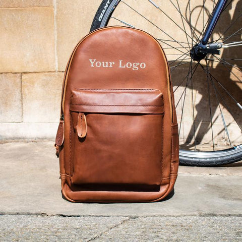Branded Leather BackPack