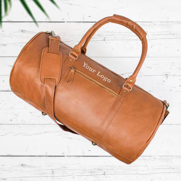 Branded Leather Duffle