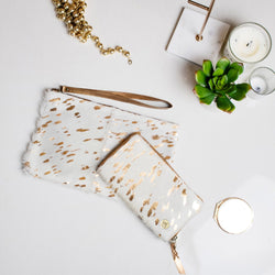 Cream & Gold Clutch & Purse Gift Set For Her | Save 10%