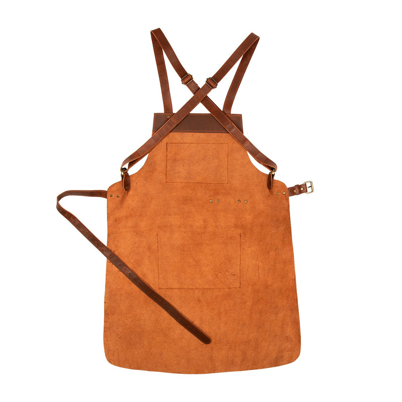 Cross Back Leather Apron