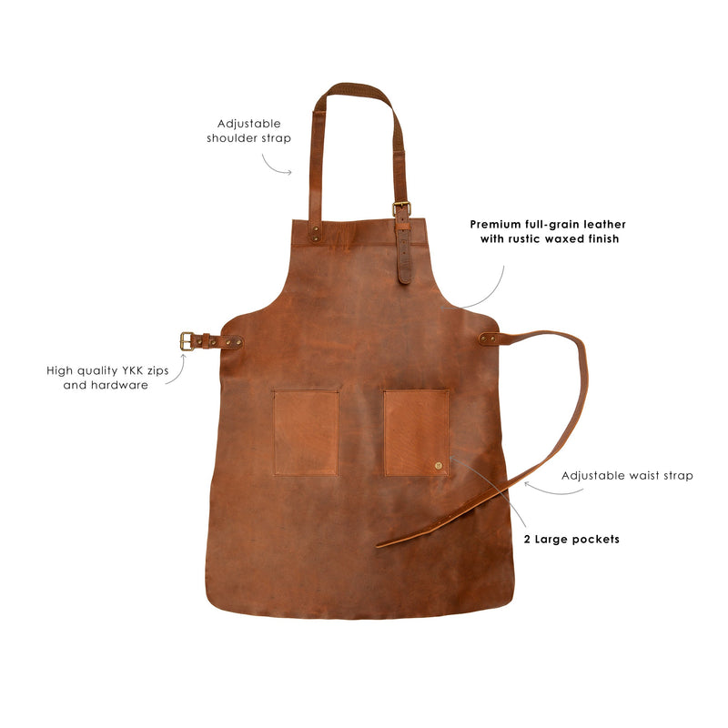 Double Pocket Leather Apron