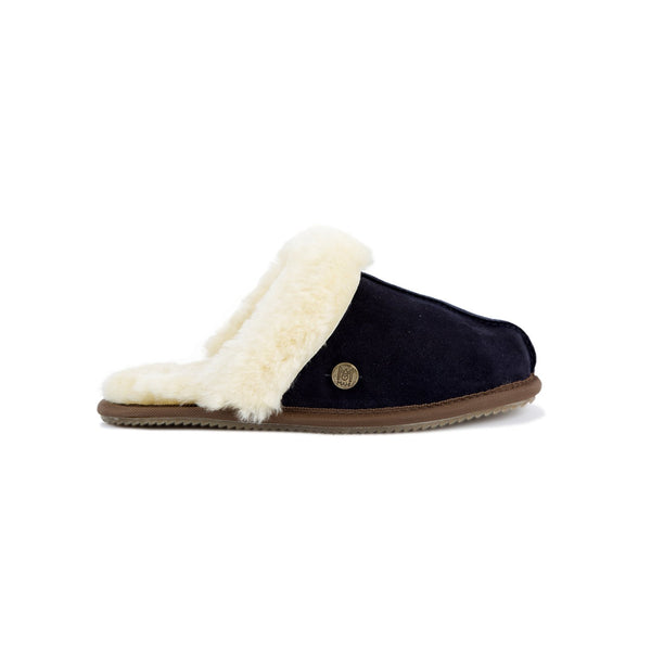 Navy Sheepskin Slippers