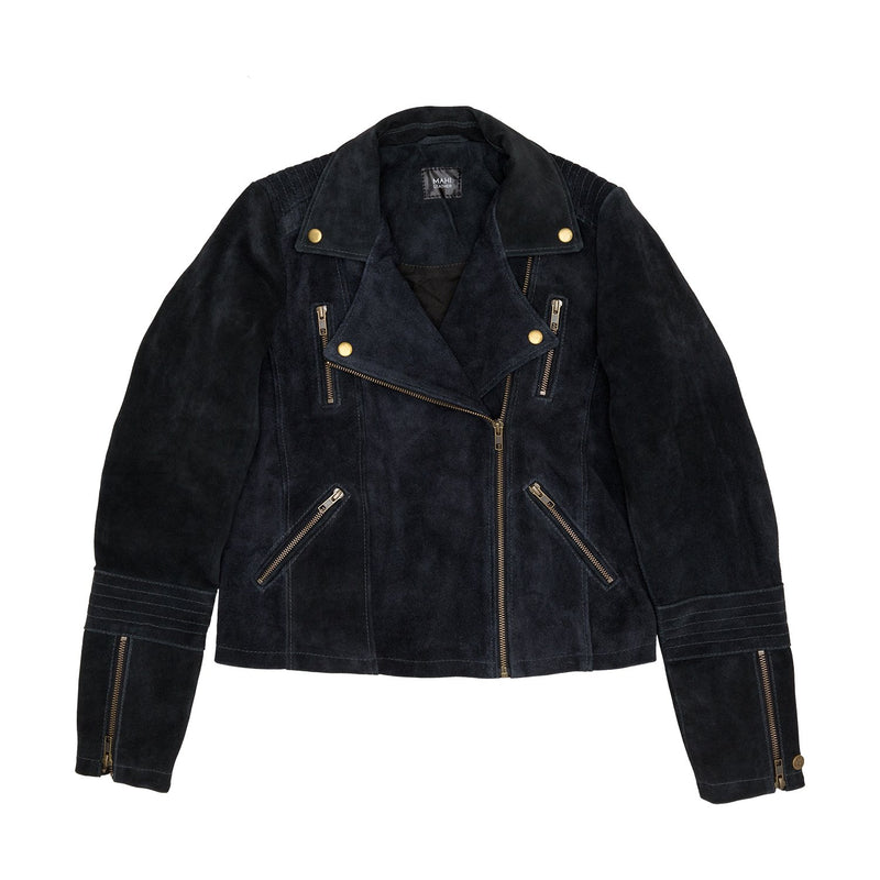 Ladies Suede Biker Jacket