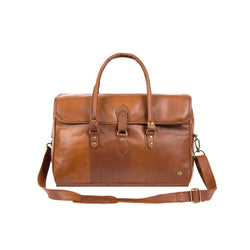 Large Brown Full Grain Leather Holdall | Personalised